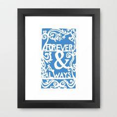 Forever & Always - Sky Framed Art Print by Rachel Winkelman - $32.00