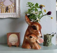 Deer vase, by Kitty Blossom