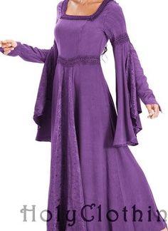 purple nightingale gown