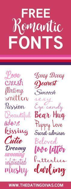 Love Fonts for Every Occasion - From FREE Romantic Fonts- a whole collection of cute and gorgeous fonts ALL FREE!FREE Romantic Fonts- a whole collection of cute and gorgeous fonts ALL FREE! Fuentes Silhouette, Blog Fonts, Dafont, Romantic Fonts, Wedding Fonts, Free Wedding, Wedding Card, Wedding Invitations, Fancy Fonts