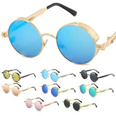 80c40c812b23 Polarized Mirror Round Circle Sunglasses Fashion Cool Retro Eyewear Unisex  Us. B. REX · Spectacular Shades