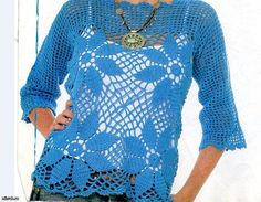 MADE TO ORDER  summer crochet blouse RI101 by CottonMystery, $85.00