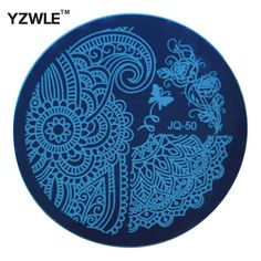 Yzwle 뜨거운 판매 네일 아트 스테인레스 스틸 플레이트 이미지 스탬프 스탬핑 플레이트 diy 매니큐어 템플릿 매니큐어 도구 (JQ-50)