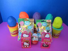 PlayDoh Kinder Suprise Egg - New March 2015! Hello Kitty, My Little Pony, Kinder, Littlest Pet Shop, Playdoh Eggs