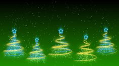 Merry Christmas Trees Background 37 (HD)