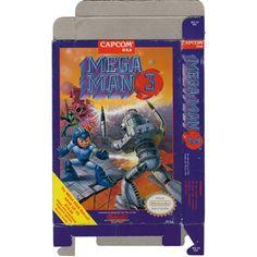 Mega Man 3 - Empty NES Box