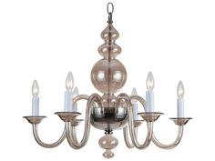 """Harper chandelier 28 3/4"""" diameter (Wayfair.com) Vern's Tip: You can have a big, bold chandelier in a small room if you choose the right one. An all-glass or thin-frame metal chandelier is striking without taking up a lot of visual space."""