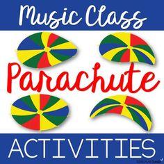 Music Class Parachute Activities - Creative Movement and Music Lessons Older Preschool - Music Dance Music For Toddlers, Music Lessons For Kids, Music Lesson Plans, Piano Lessons, Preschool Music Lessons, Kindergarten Music, Toddler Music, Preschool Ideas, Movement Preschool