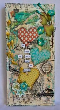 Canvas Art Ideas Love Mixed Media 50+ Super Ideas #art