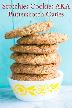 Butterscotch Oaties, AKA Oatmeal Scotchies Cookies from @kitchenmagpie