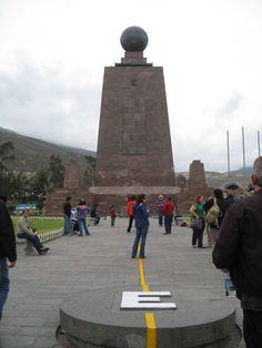 Ecuador... the center of the world.