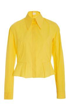 Peplum Button Down Shirt by DELPOZO Now Available on Moda Operandi