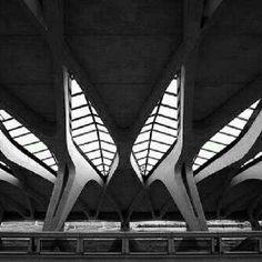 Estação de TGV, em Lyon, França. Projeto do arquiteto Santiago Calatrava. #architecture #arts #arquitetura #arte #decor #design #decoração #interiores #interior #lighting #luzetrancendencia #projetocompartilhar #shareproject