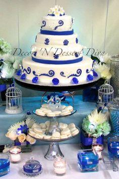 Felien Torres Lyn And Marissa Badilla Bitagon Dessert Table Shire Blue Wedding Anniversary