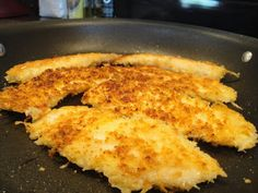 I have had frozen tilapia fillets in the freezer for quite some time. We bought a big bag of them at Sam's Club a while ago, but other than baking them in the oven with a little seasoning, I haven't… Talapia Recipes Healthy, Tilapia Recipes, Spicy Recipes, Fish Recipes, Low Carb Recipes, Cooking Recipes, Cooking Tilapia In Oven, Tilapia Recipe Oven, Parmesan Crusted Tilapia