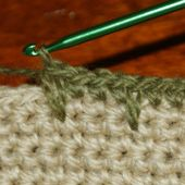 Crochet Spike Stitches Combined With Single Crochet Stitches