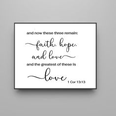 These three remain Faith Hope and Love quality print Bible Wooden Pallet Signs, Painted Wood Signs, Make Your Own Sign, Christian Signs, Inspirational Signs, Gifts For New Parents, Love Signs, Rustic Signs, Painting On Wood