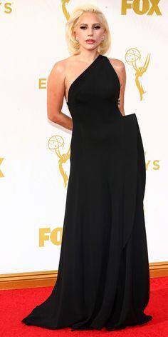Lady Gaga in Brandon Maxwell ~ Emmys 2015 Celebrity Red Carpet, Celebrity Look, Celebrity Dresses, Celeb Style, Lady Gaga Emmy, Glamour, Instyle Fashion, Pokerface, Nice Dresses
