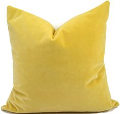 Luscious buttery golden yellow velvet is yummy! (Same fabric on both sides.) This pillow cover is the perfect accent to a collection of pillows.