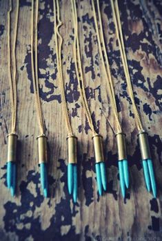 Turquoise Bullet Necklace — PURE COLLECTION