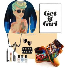 Untitled #37 by zjay4life on Polyvore featuring polyvore fashion style Timberland Valentino Yves Saint Laurent Chanel NARS Cosmetics Deborah Lippmann