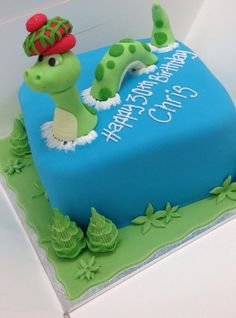 Lock Ness monster cake.