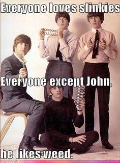John Lennon, Paul McCartney, George Harrison, and Richard Starkey The Beatles, Beatles Funny, Beatles Photos, Beatles Art, George Beatles, George Harrison, Paul Mccartney, John Lennon, Funny Celebrity Pics