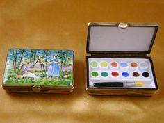 Monet paint box - Porcelain Limoges from France - Limoges Factory Co.
