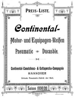 Continental, Price List, Brochures, Vintage Ads, Tired, History, Garage Art, Veil, Advertising