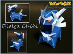 Easy Pokemon Papercraft | PaperPokés - Pokémon Papercrafts: DIALGA CHIBI