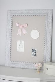 A pin board is great home decor or a way to organize. This simple DIY makes an ordinary board, beautiful.