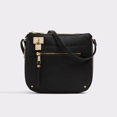 Prareng The little black dress of cross-body purses, this little babe will never go out of style.  Clever details including decorative padlock and tassel zip front pocket, further enhance this iconic look.