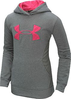 UNDER ARMOUR Girls' Armour Fleece Storm Big Logo Hoodie #giftofsport