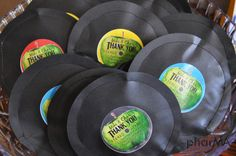 Beatles DIY Party , Record Party Favors, Music Party Favors — The PharMA Blog