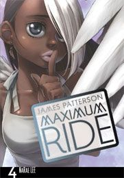 Book Name:Maximumum Ride:Manga Comics Volume 4 Main Characters: Maximum Ride, Fang, Iggy, Gasman, Angel, Ari and Jeb Batchelder.  Main plot: It starts off as Gasman and Iggy find an abandoned tunnel leading inti a cave they call The BatCave. Later on, Max and Fang find Iggy's long lost parents, as Iggy was kidnapped at age 2 and was spliced with Avian DNA, as well as the others. A few days after Iggy going to live with his parents, Maximum decides as a leader of The Flock, that they should…