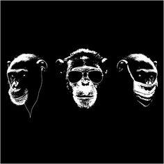 monkey no hear no see no speak.