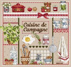 Madame la Fee, Cuisine de Campagne, схема для вышивания крестом, купить, французская вышивка