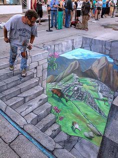 The Best The Astonishing Chalk Street Pictures by Tracy Lee Stum ~ Kuriositas - Straßenkunst - Art Murals Street Art, 3d Street Art, 3d Street Painting, Amazing Street Art, Street Art Graffiti, Graffiti Artists, 3d Sidewalk Art, Banksy, Pavement Art