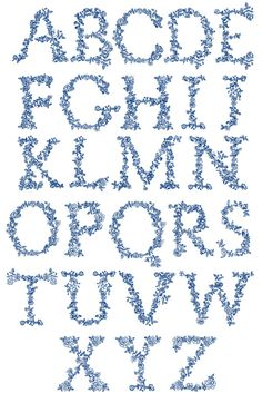 Redwork Alphabet embroidery designs