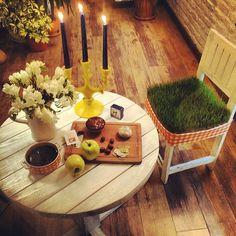 Parchak Cheese House & Café interior design haft-sin haftsin haft sin Tehran Iran