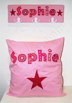 ♥ die kleine Sophie liebt PINK ♥ #Kinderzimmer #Ordnung #Geschenk #Geburt #Taufe #Wanddekoration #Kinderzimmerdeko #garderobe