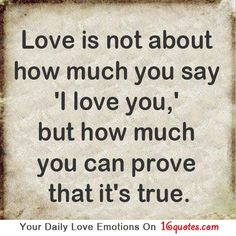 Love is not about how....