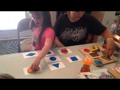 Isabella 13- ABA therapy for Severely Autistic Child, Matching, Shapes - YouTube