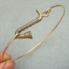Saxophone+Bangle+Bracelet+by+turquoisecity+on+Etsy,+$9.95