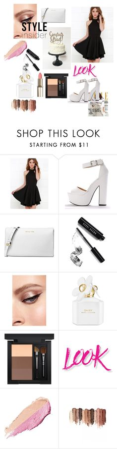 """we're style icon"" by ouissal-lahouarii ❤ liked on Polyvore featuring Michael Kors, Bobbi Brown Cosmetics, Marc Jacobs, MAC Cosmetics, NYX, By Terry and tarte"