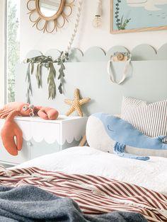 Ikea Hack Kids, Ikea Hacks, Girl Room, Girls Bedroom, Ocean Bedroom Kids, Seaside Bedroom, Sea Nursery, Baby Room Decor, Bedroom Decor