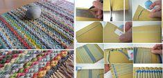 Πώς να φτιάξετε ένα χαλάκι με χαρτόνι και πιρούνι! - Φτιάξτο μόνος σου - Κατασκευές DIY - Do it yourself