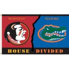 Florida - Florida State 3'x5' Flag with Grommets (Rivalry House Design)