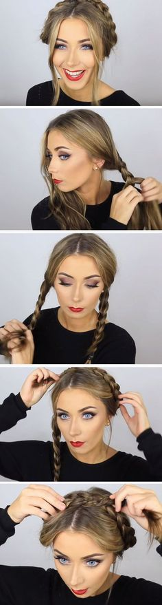 Milkmaid | 18 Easy Fall Hairstyles for Medium Hair that are oh so trendy!