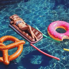 donut, pretzel and ice cream sandwich rafts. (from Urban Outfitters) summer pool party fun with happy happiness friends Summer Vibes, Summer Sun, Summer Of Love, Spring Summer, Hello Summer, Spring Air, Summer Feeling, I Need Vitamin Sea, Urban Outfitters